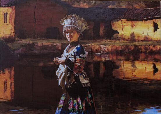 王立宪情感写实油画 晚霞恋情 在巴黎展览引轰动